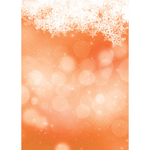 Westcott Snowy Bokeh Art Canvas Backdrop with Grommets (5 x 7', Orange)