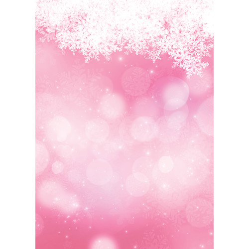 Westcott Snowy Bokeh Art Canvas Backdrop with Grommets (5 x 7', Pink)