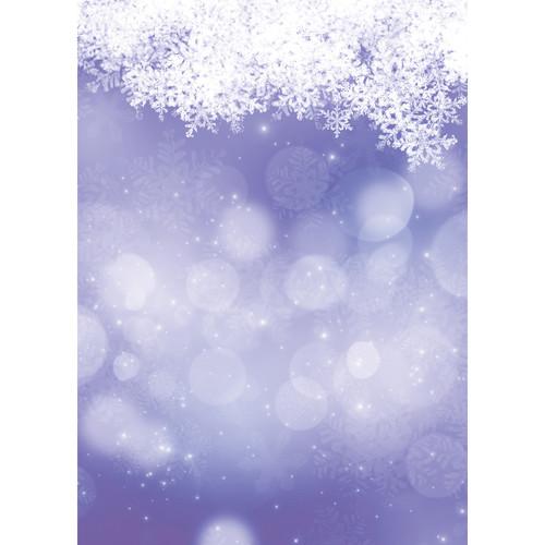 Westcott Snowy Bokeh Art Canvas Backdrop with Grommets (5 x 7', Purple)