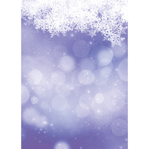 Westcott Snowy Bokeh Art Canvas Backdrop with Grommets (5 x 7', Purple)