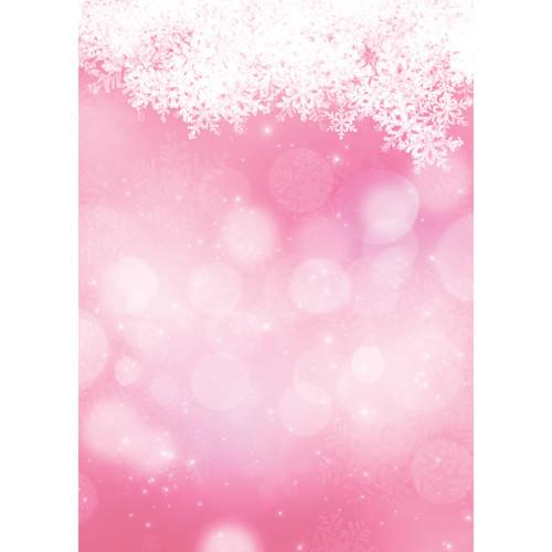 Westcott Snowy Bokeh Matte Vinyl Backdrop with Grommets (5 x 7', Pink)