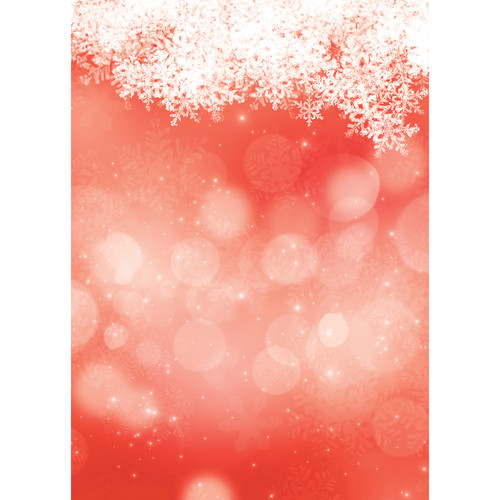 Westcott Snowy Bokeh Matte Vinyl Backdrop with Grommets (5 x 7', Red)