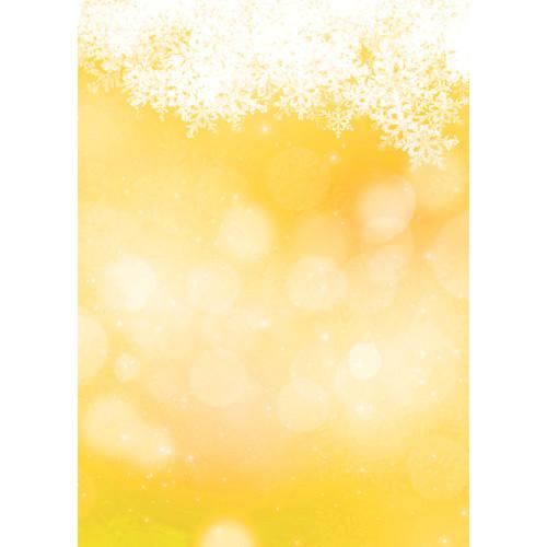 Westcott Snowy Bokeh Matte Vinyl Backdrop with Grommets (5 x 7', Yellow)