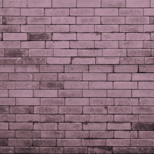 Westcott Brick Wall Art Canvas Backdrop with Hook-and-Loop Attachment (3.5 x 3.5', Purple)