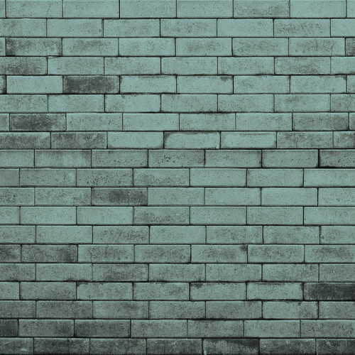 Westcott Brick Wall Matte Vinyl Backdrop with Hook-and-Loop Attachment (3.5 x 3.5', Turquoise)