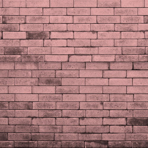 Westcott Brick Wall Matte Vinyl Backdrop with Hook-and-Loop Attachment (3.5 x 3.5', Pink)