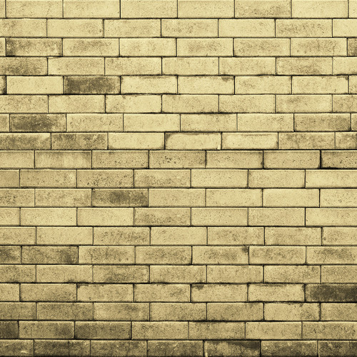 Westcott Brick Wall Matte Vinyl Backdrop with Hook-and-Loop Attachment (3.5 x 3.5', Yellow)