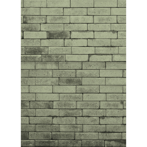 Westcott Brick Wall Art Canvas Backdrop with Hook-and-Loop Attachment (5 x 7', Green)