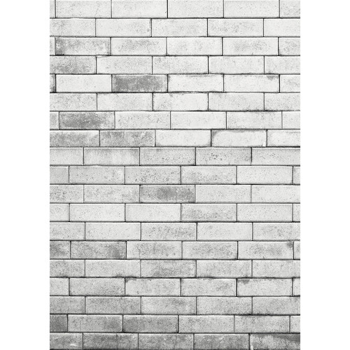 Westcott Brick Wall Art Canvas Backdrop with Hook-and-Loop Attachment (5 x 7', Gray)