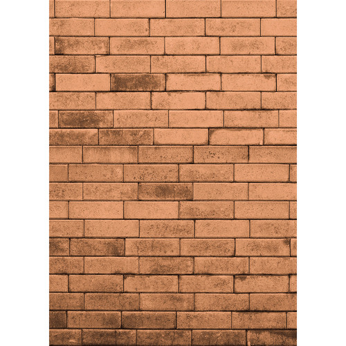 Westcott Brick Wall Art Canvas Backdrop with Hook-and-Loop Attachment (5 x 7', Orange)