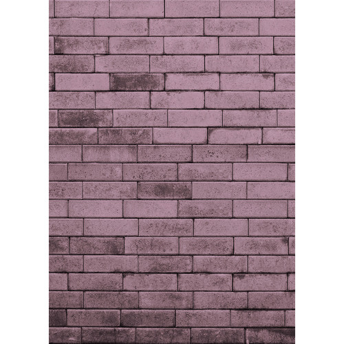 Westcott Brick Wall Art Canvas Backdrop with Hook-and-Loop Attachment (5 x 7', Purple)