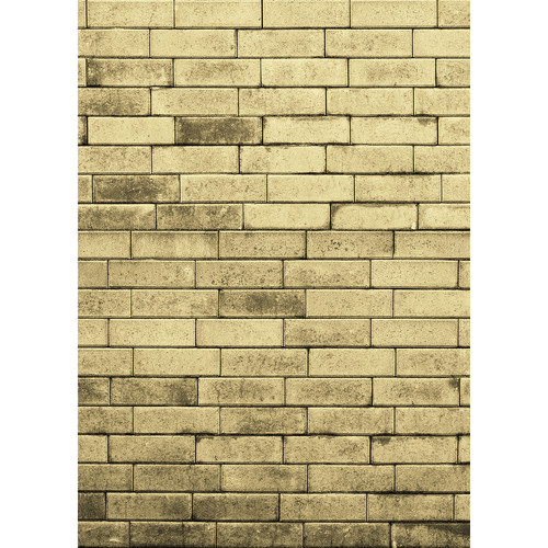 Westcott Brick Wall Art Canvas Backdrop with Hook-and-Loop Attachment (5 x 7', Yellow)