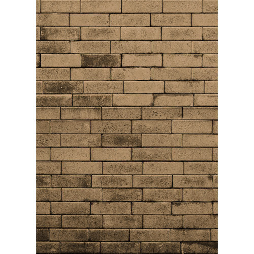 Westcott Brick Wall Matte Vinyl Backdrop with Hook-and-Loop Attachment (5 x 7', Brown)