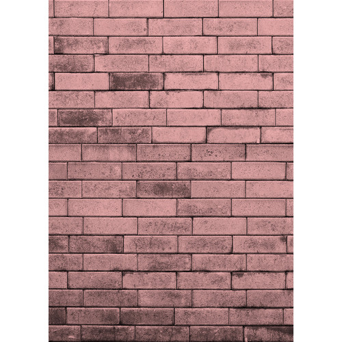 Westcott Brick Wall Matte Vinyl Backdrop with Hook-and-Loop Attachment (5 x 7', Pink)