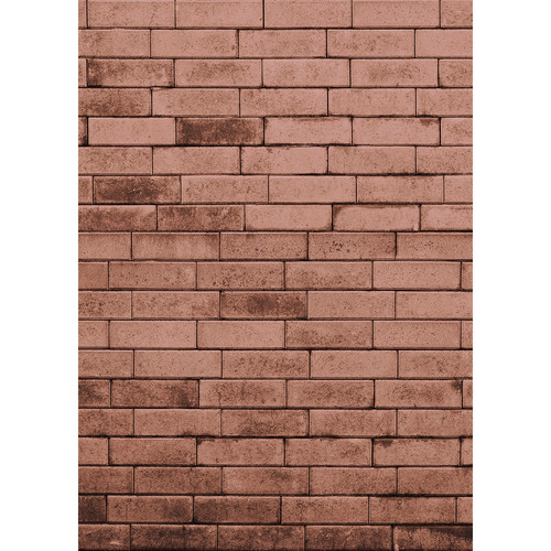 Westcott Brick Wall Matte Vinyl Backdrop with Hook-and-Loop Attachment (5 x 7', Red)