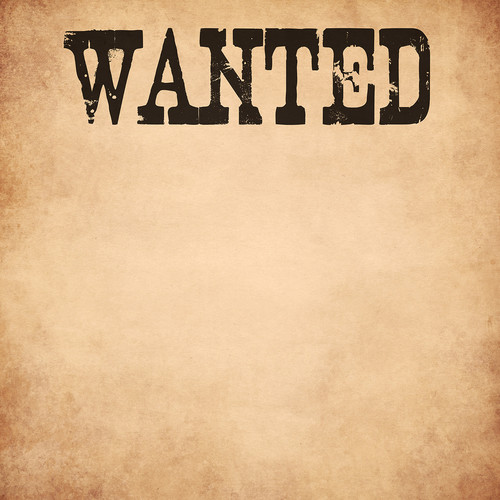 Westcott 3.5 x 3.5' Wanted Poster/Vinyl Backdrop - Multi Color