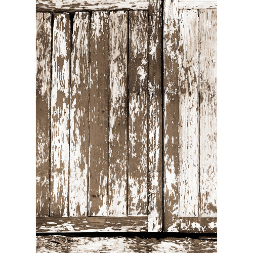 Westcott Rustic Wood Panel Art Canvas Backdrop with Grommets (5 x 7', Multi-Color)