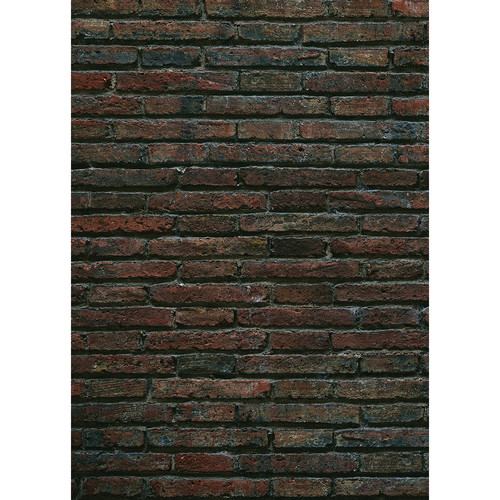 Westcott Grungy Brick Wall Matte Vinyl Backdrop with Grommets (5 x 7', Multi-Color)