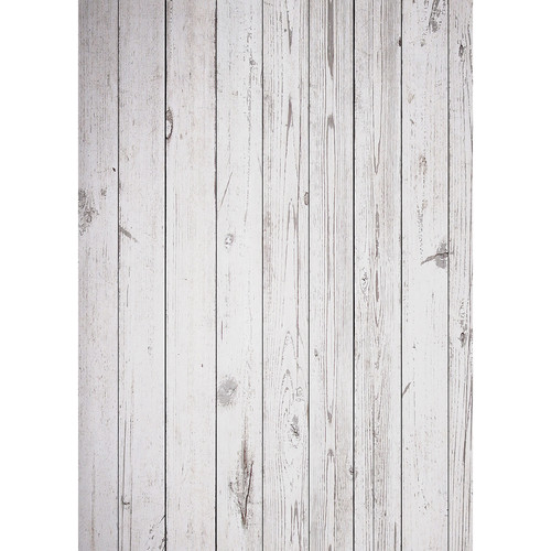 Westcott Old Wood Floor Matte Vinyl Backdrop with Grommets (5 x 7', White)