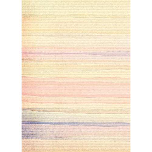 Westcott Nursery Stripes Matte Vinyl Backdrop with Grommets (5 x 7', Multi-Color)