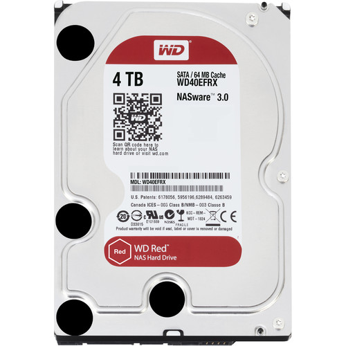 "WD 4TB Red 5400 rpm SATA III 3.5"" Internal NAS HDD"