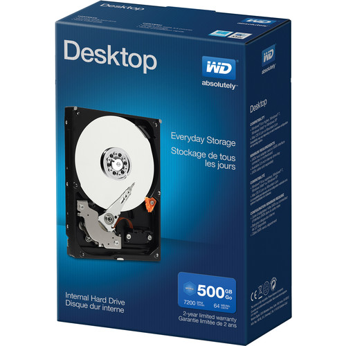 WD 500GB Desktop Mainstream HDD Retail Kit (Blue)