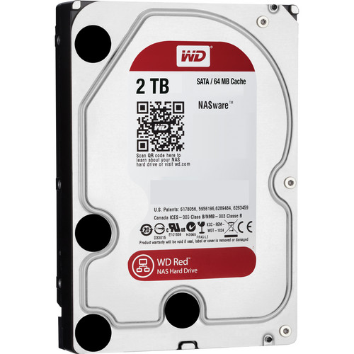 "WD 2TB Red 5400 rpm SATA III 3.5"" Internal NAS HDD Retail Kit"