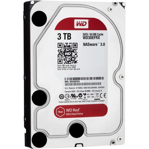 "WD 3TB Red 5400 rpm SATA III 3.5"" Internal NAS HDD Retail Kit"