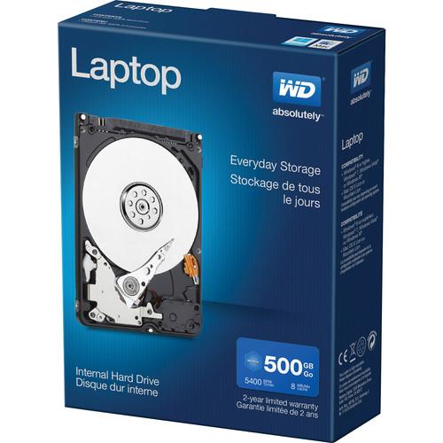"""WD 500GB Laptop Performance 5400 rpm SATA II 2.5"""" Internal HDD Retail Kit"""