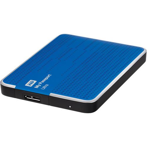 WD 500GB My Passport Ultra Portable Hard Drive (Blue)