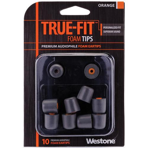 Westone True-Fit Foam Eartips (10-Pack, Orange)