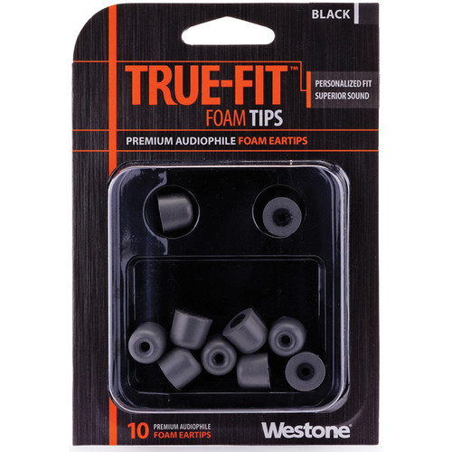 Westone True-Fit Foam Eartips (10-Pack, Black)