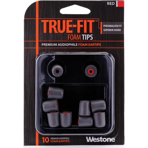 Westone True-Fit Foam Eartips (10-Pack, Red)