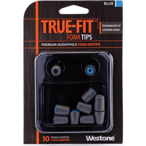 Westone True-Fit Foam Eartips (10-Pack, Blue)