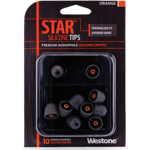 Westone STAR Premium Silicone Eartips (10-Pack, Orange)