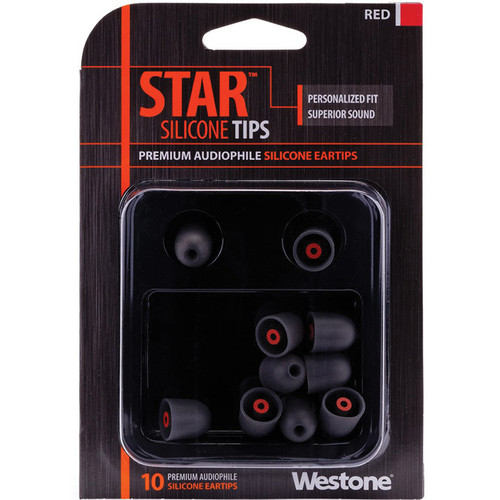 Westone STAR Premium Silicone Eartips (10-Pack, Red)