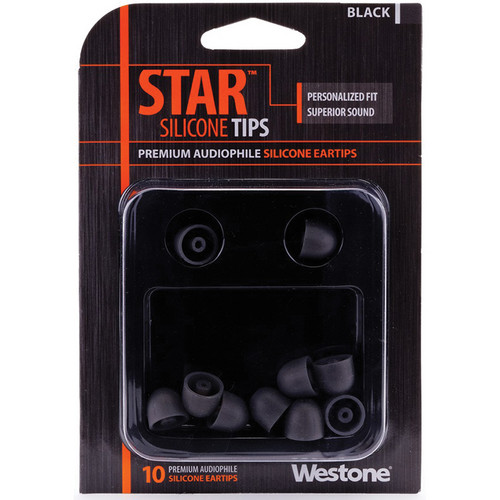 Westone STAR Premium Silicone Eartips (10-Pack, Black)
