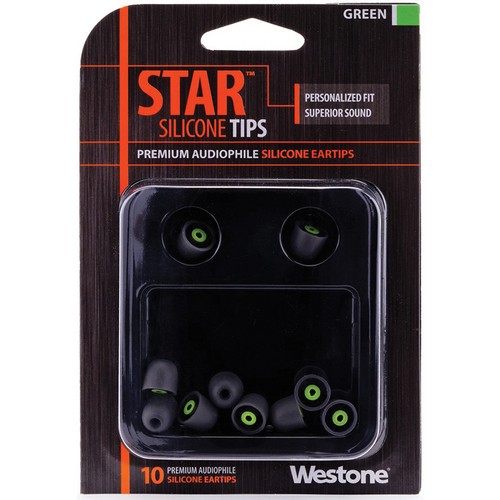 Westone STAR Premium Silicone Eartips (10-Pack, Green)