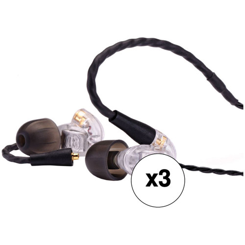 Westone UM Pro10 Single-Driver Universal In-Ear Monitors (3-Pack, Clear)