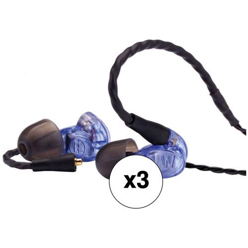 Westone UM Pro10 Single-Driver Universal In-Ear Monitors (3-Pack, Blue)