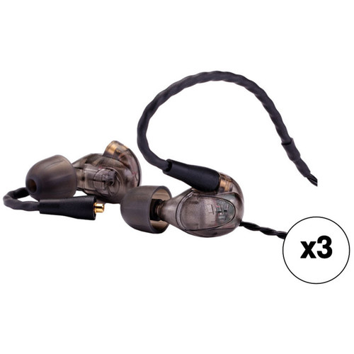 Westone UM Pro 20 Dual-Driver Stereo In-Ear Headphones with Replaceable Cable (Smoke, 3-Pack)
