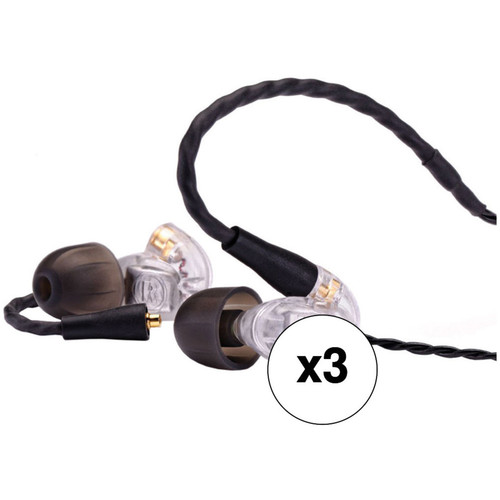 Westone UM Pro 20 Dual-Driver Stereo In-Ear Headphones with Replaceable Cable (Clear, 3-Pack)