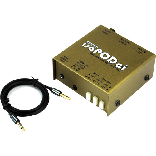 Whirlwind Isopodci Stereo/Mono TRSS to XLR Adapter Conference Intereface with 4-Conductor 3.5TRRS Cable