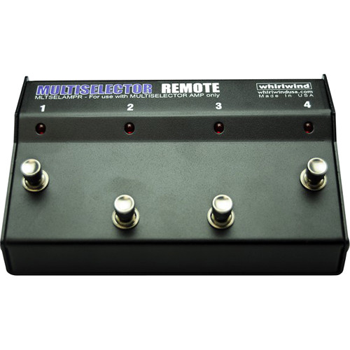 Whirlwind Remote with Stomp Box-Style Footswitch for MultiSelector AMP Rack Mount Unit