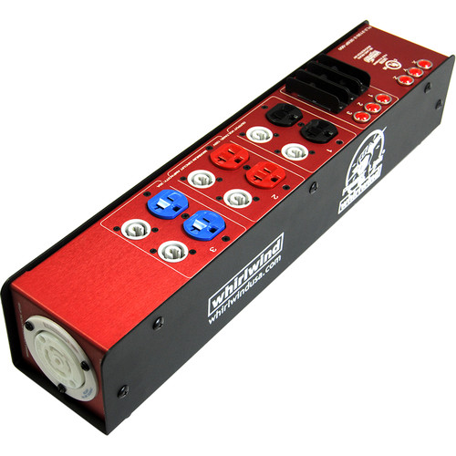Whirlwind Power Link PL2 Stringer with L2130 Inlet/Outlet, Three Duplex Outputs & Six PowerCON Outputs