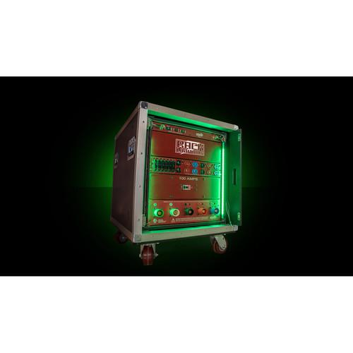 Whirlwind Power Link - Rack Lightining RGBW LED Rail Kits, 16-RU Kit (2 Pieces)