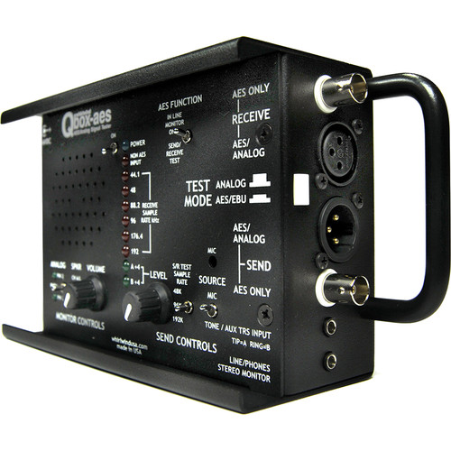 Whirlwind AES/EBU Tester with 44.1 to 192 kHz Input Sample Rates