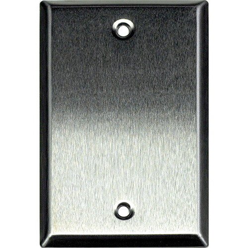Whirlwind 1-Gang Blank Wall Plate (Stainless Steel Finish)