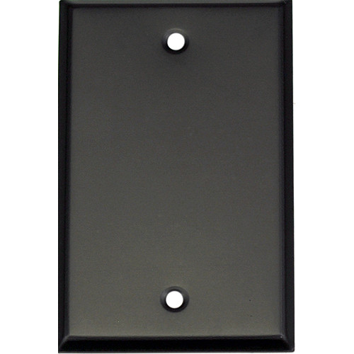 Whirlwind 1-Gang Blank Wall Plate (Black Finish)