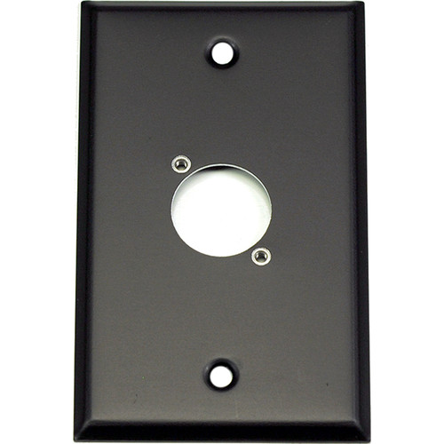 Whirlwind WP1B/1NDH 1-Gang Wall Plate Punched for 1 Neutrik XLR Terminal (Black Finish)
